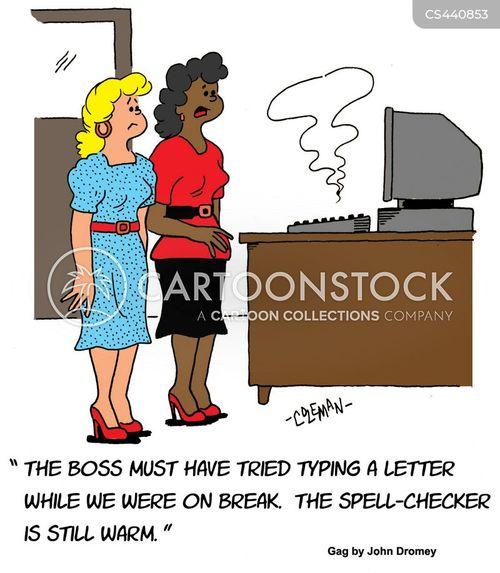 spell checker cartoon