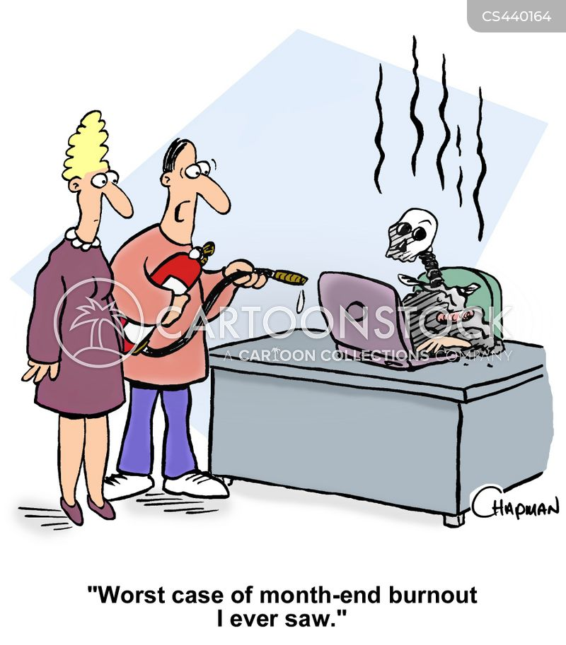 burn-outs cartoon
