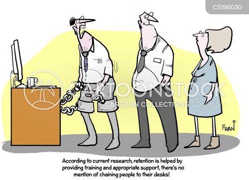 employee retention cartoon