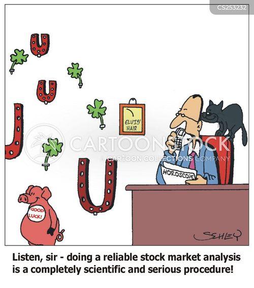 market analysts cartoon