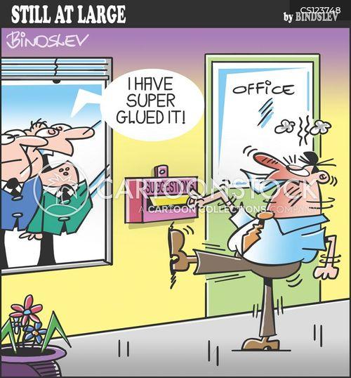 super glue cartoon