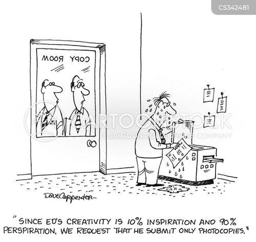 perspire cartoon