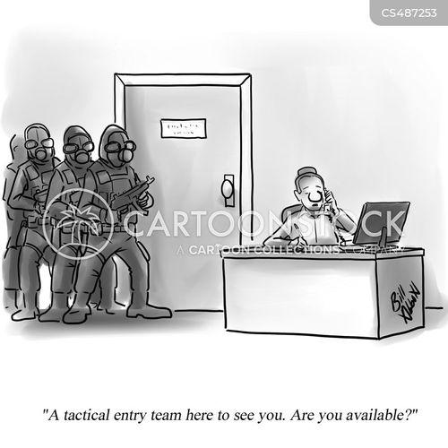 swat teams cartoon