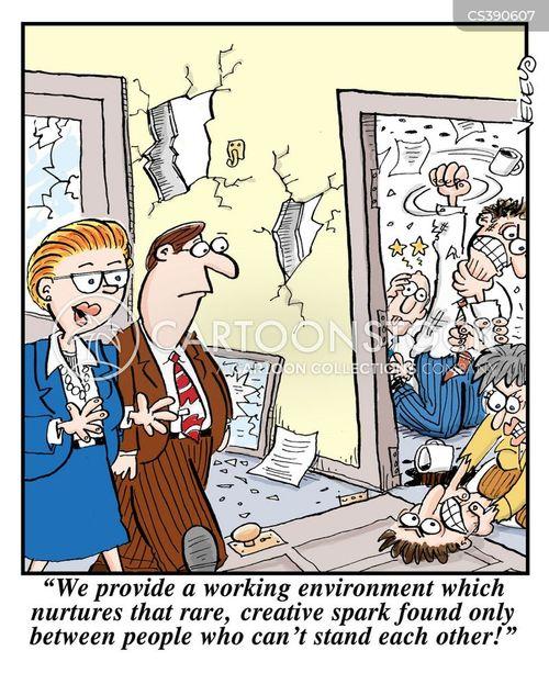 teamworking cartoon