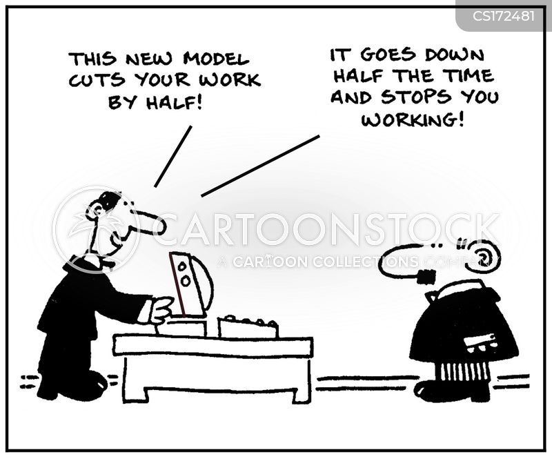 computer job cartoon