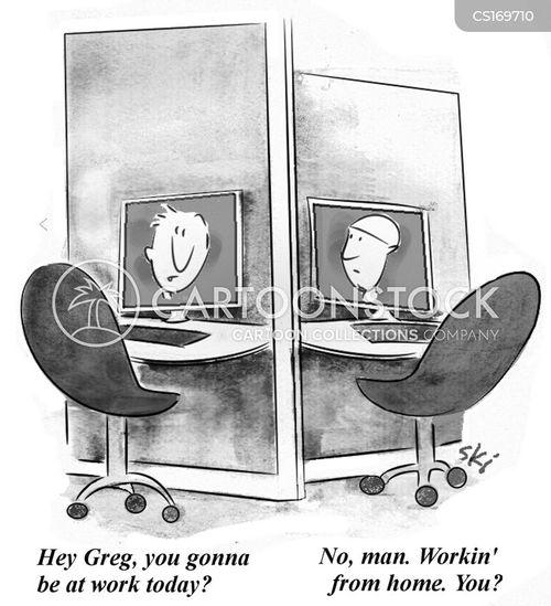 telework cartoon