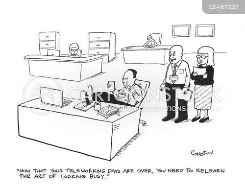 desk worker cartoon
