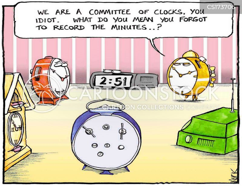 telling the time cartoon