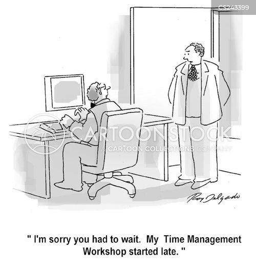 punctualness cartoon
