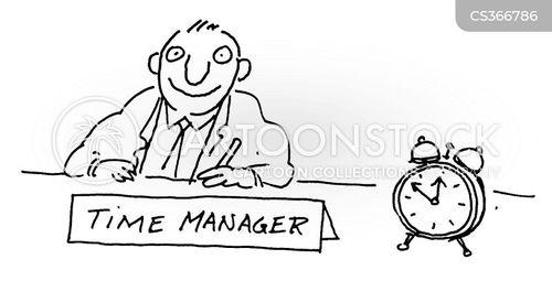 time-management cartoon
