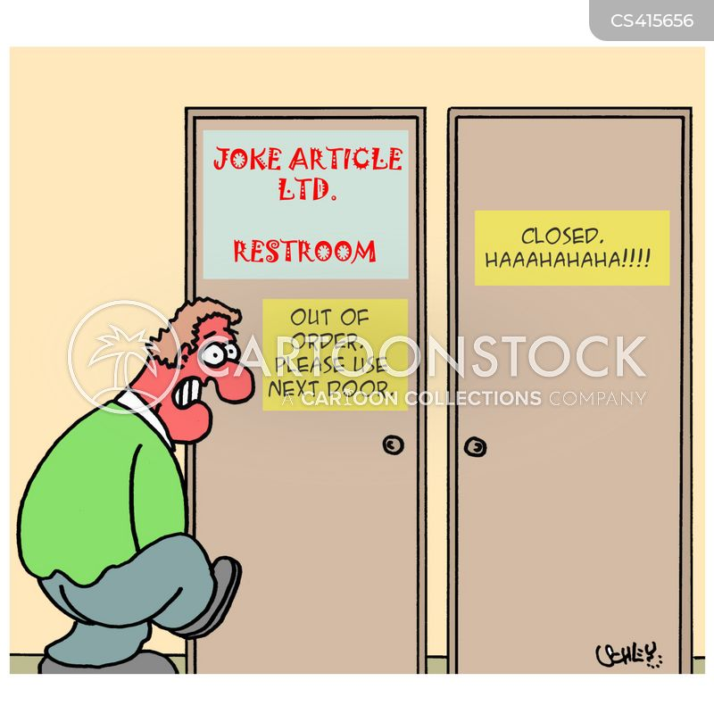 Joke Restroom  Out of Order   Please Use Next Door. Loo Breaks Cartoons and Comics   funny pictures from CartoonStock