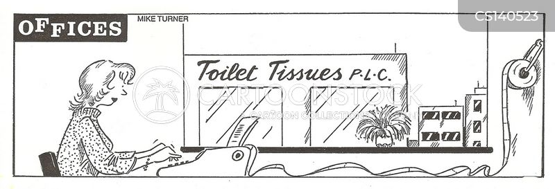 toilet tissues cartoon