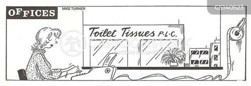 paper rolls cartoon