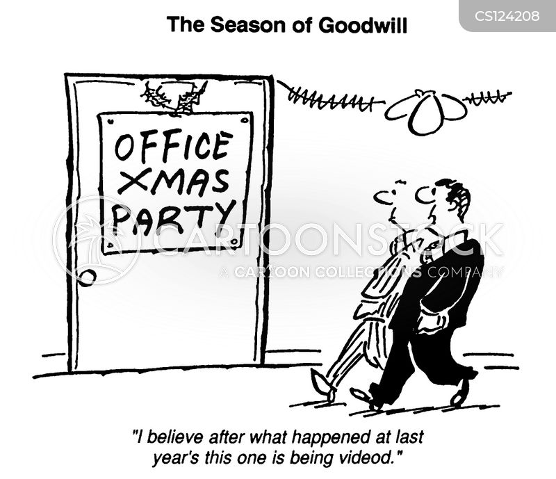 Christmas Party Images Cartoon.Office Christmas Party Cartoons And Comics Funny Pictures