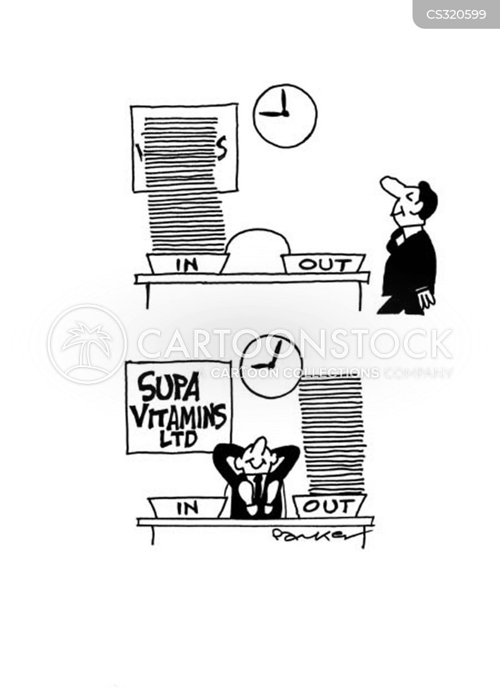 filing tray cartoon
