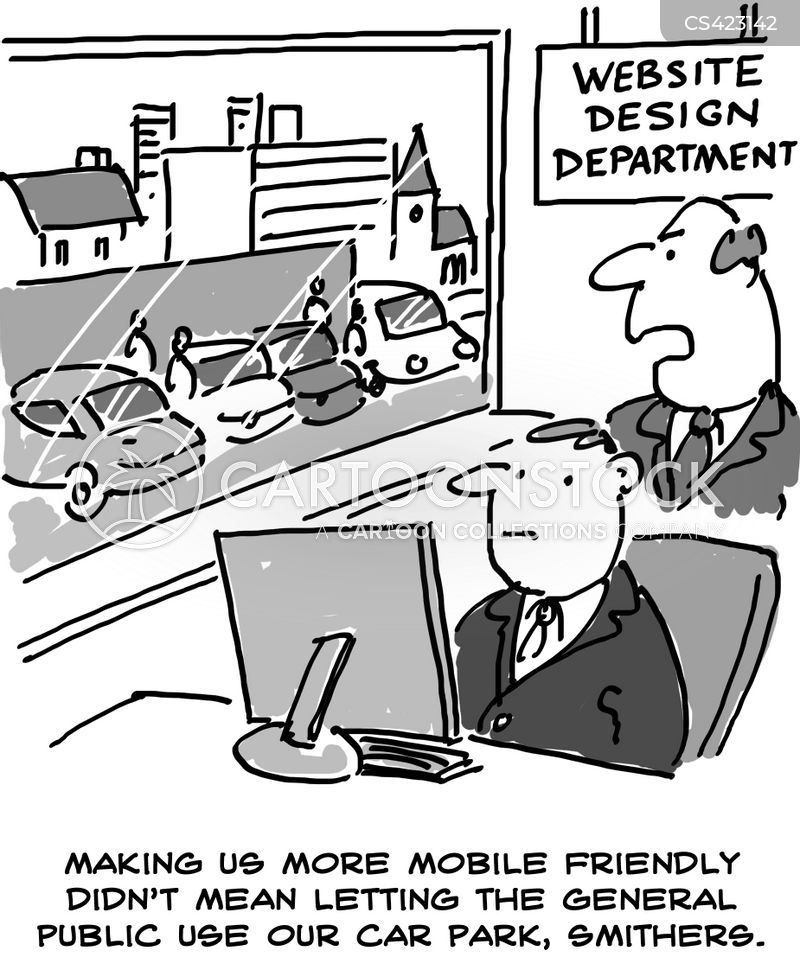 website designers cartoon