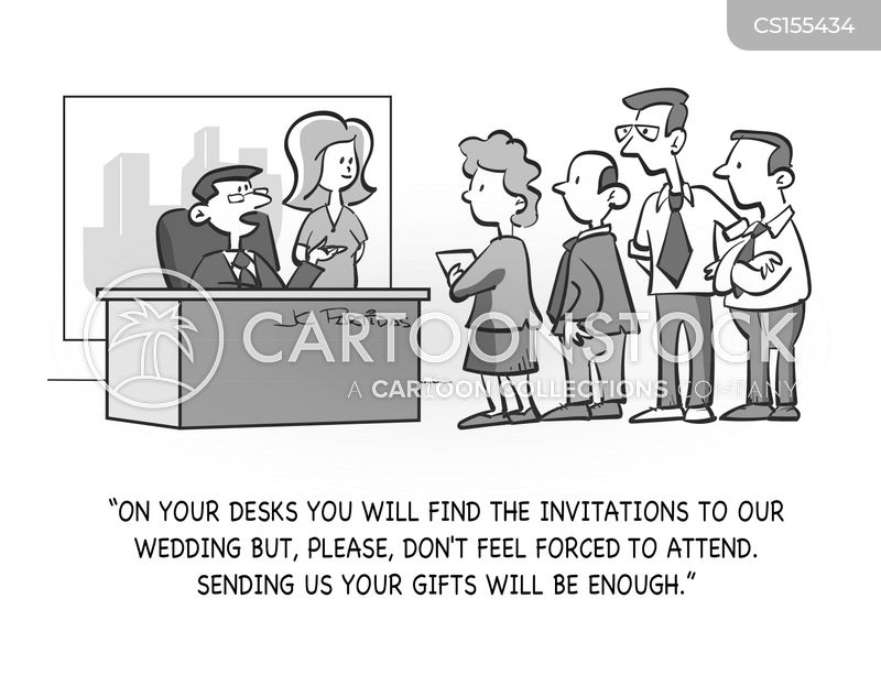 wedding guests cartoon