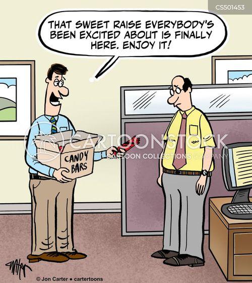 pay-check cartoon