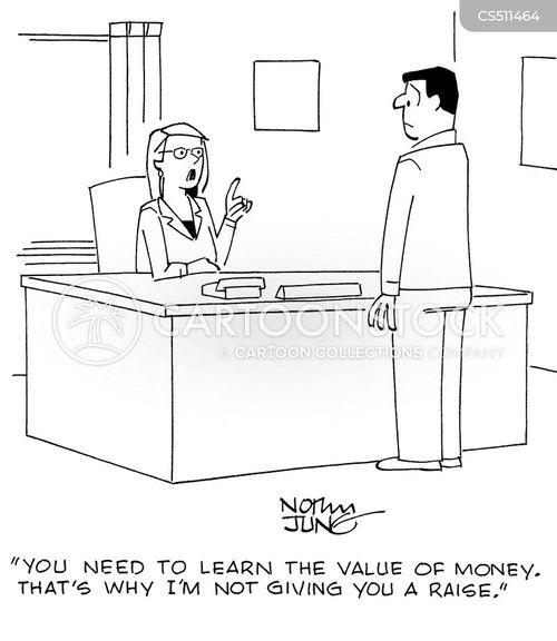 value of money cartoon