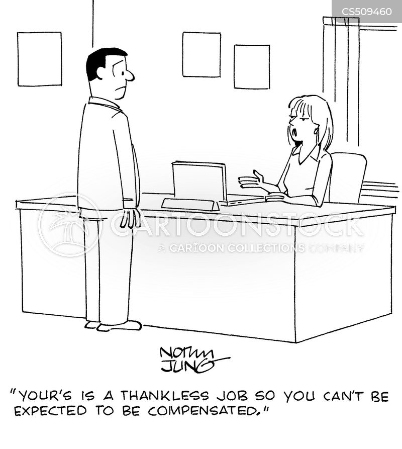 thankless job cartoon