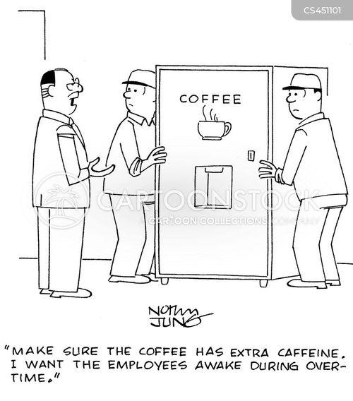 coffee machines cartoon