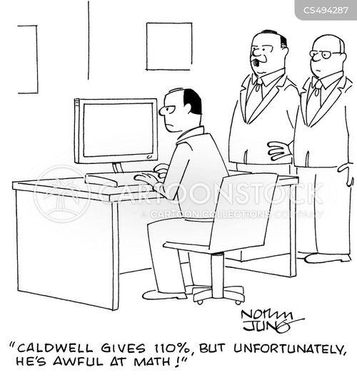 math skill cartoon
