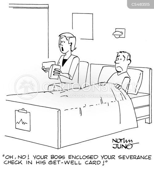 severance cheques cartoon