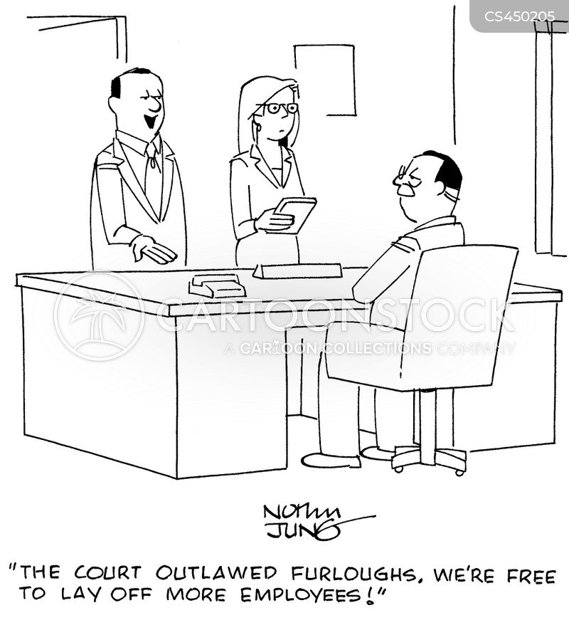 furloughing cartoon