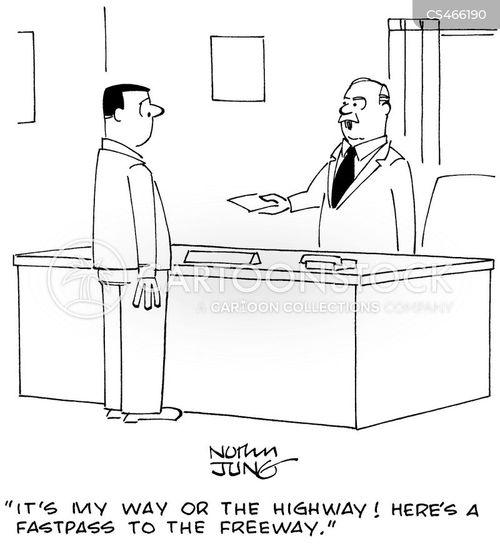 my way or the highway cartoon
