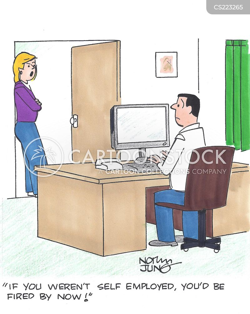 home business cartoon