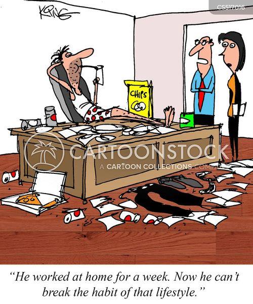 remote work cartoon