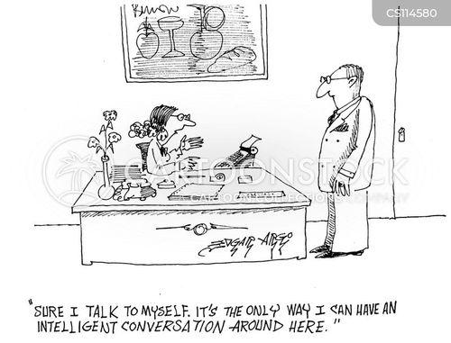 talk to yourself cartoon