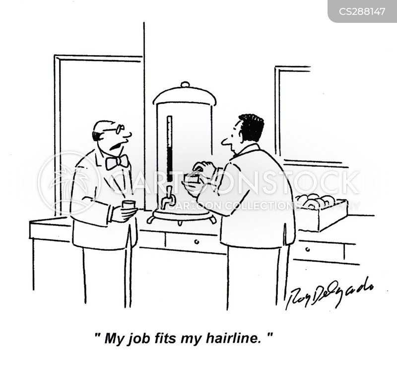 hairline cartoon
