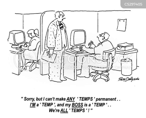 temp work cartoon