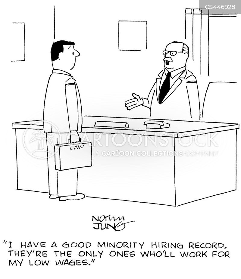 hiring record cartoon