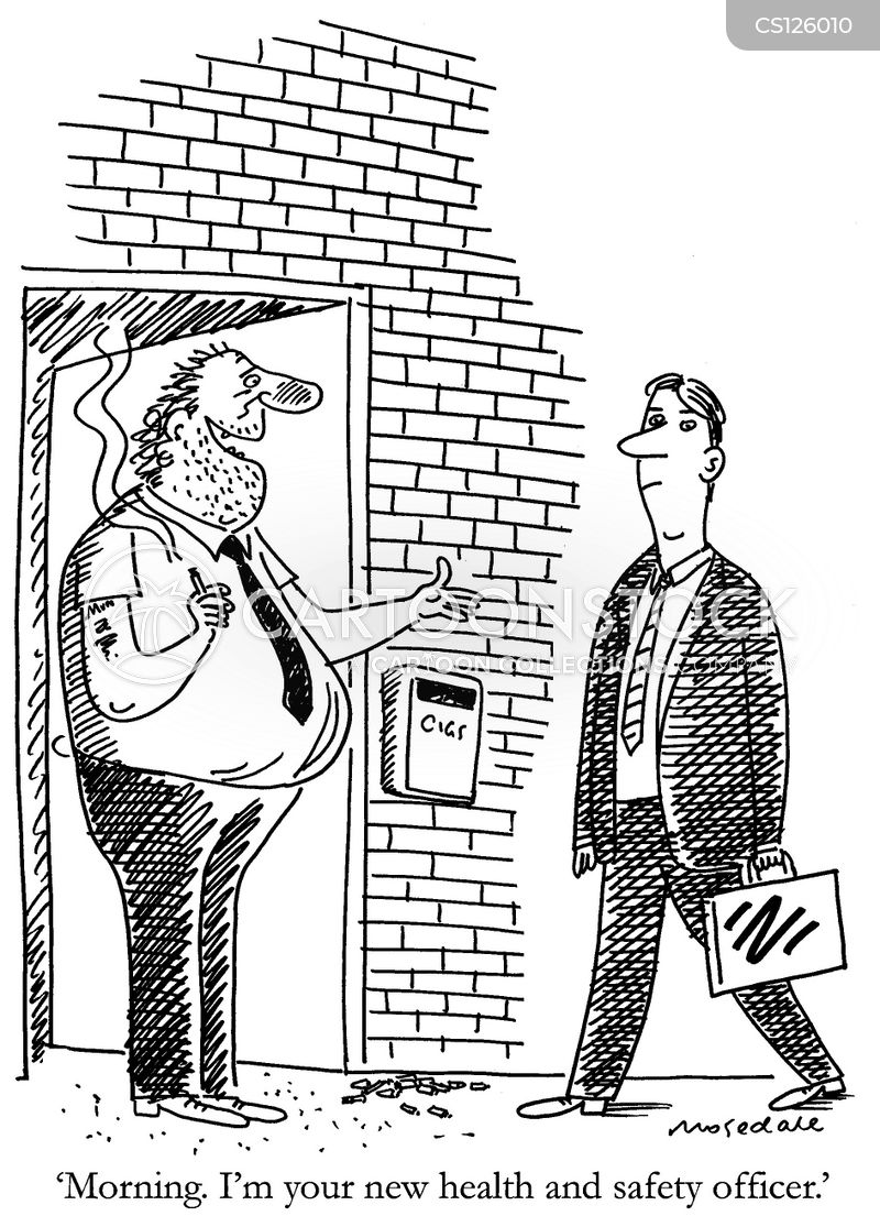 health and safety officer cartoon