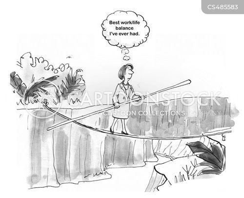 tight-ropes cartoon