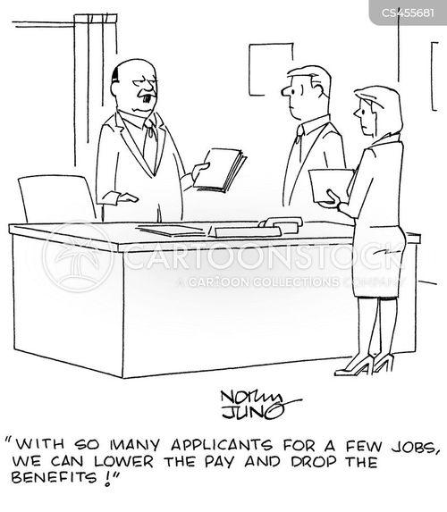 work benefits cartoon