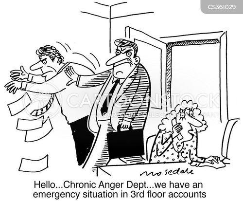 anger at work cartoon