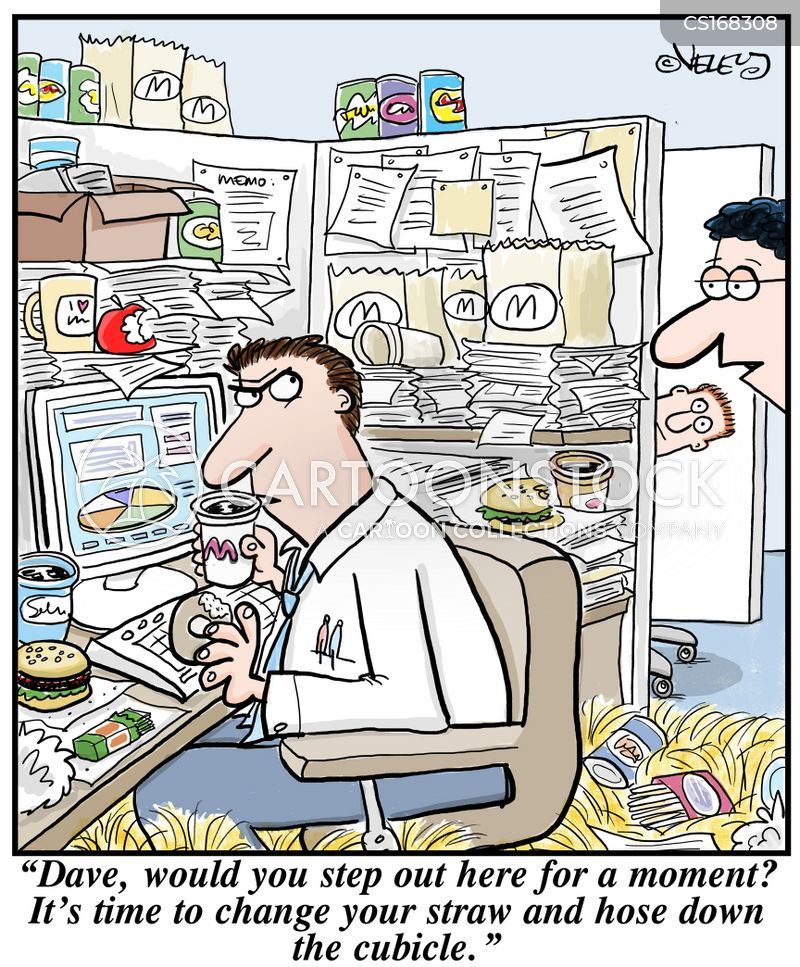 messiness cartoon