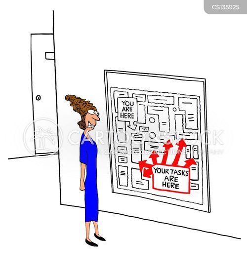 task lists cartoon