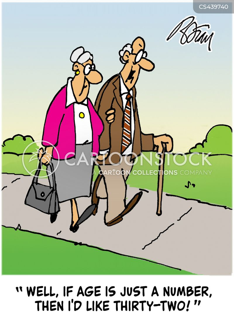 old-age pensioners cartoon