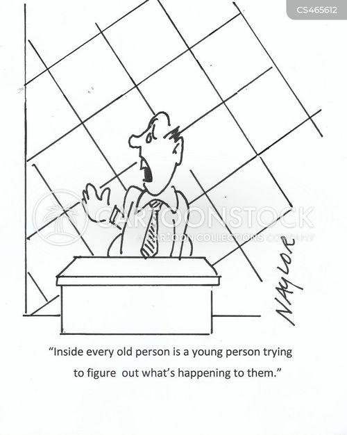 ageing gracefully cartoon