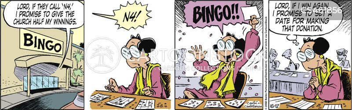 bingo halls cartoon