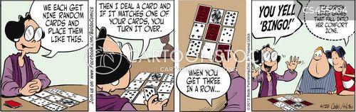 bingo addict cartoon