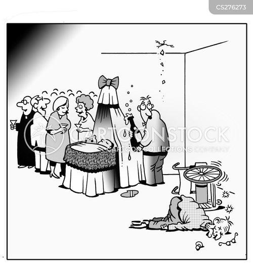 baptize cartoon