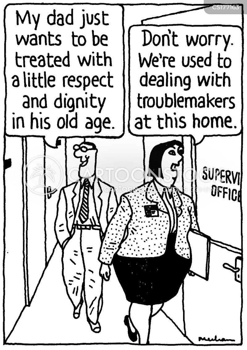 Image result for care home cartoon