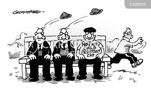 flat caps cartoon