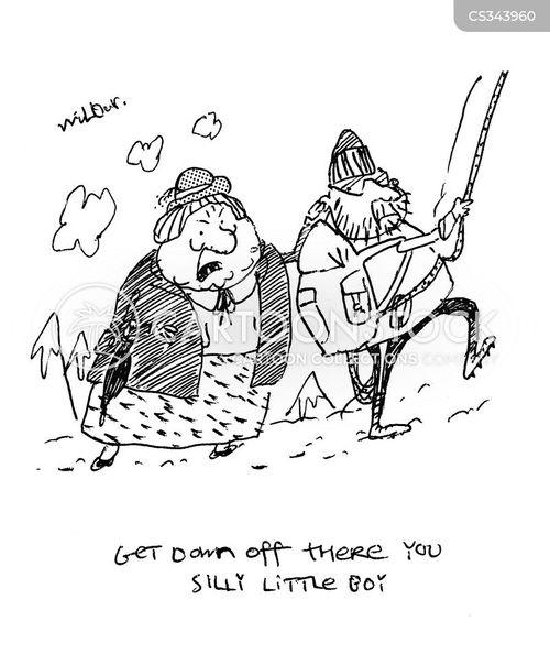 abseils cartoon