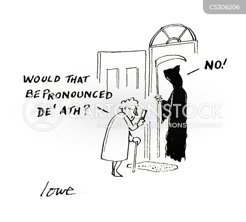 Knocking On Deaths Door cartoons, Knocking On Deaths Door cartoon, funny, Knocking On Deaths Door picture, Knocking On Deaths Door pictures, Knocking On Deaths Door image, Knocking On Deaths Door images, Knocking On Deaths Door illustration, Knocking On Deaths Door illustrations
